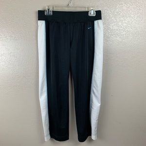 Nike 1990's Black W White Side Stripe Track Pants